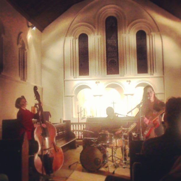 Last night inside the wonderful St Laurence church (photo by Southcoasting).