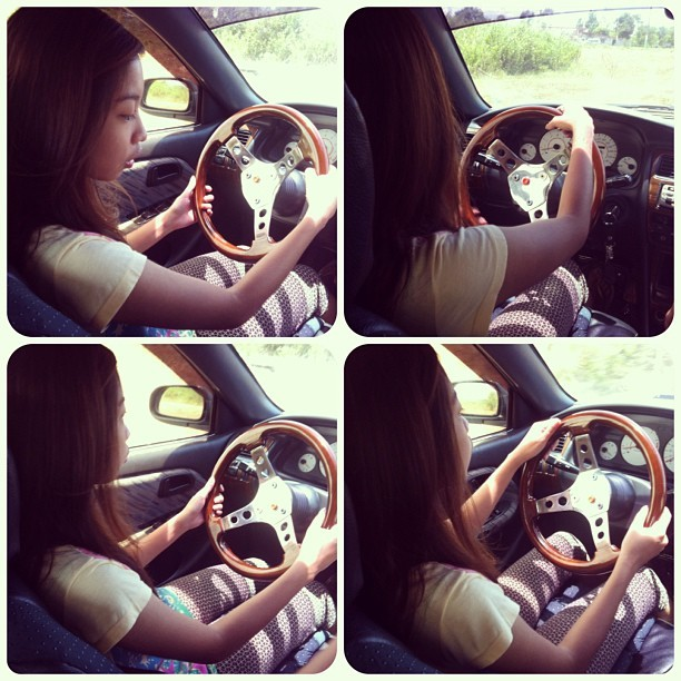 I've decided to finally learn to drive. Hehe 😀🚙  wt @annehartxxu & Claudia 😄 #driving #lesson #car #happy #satisfied #mission #accomplished #igdaily #instacollage