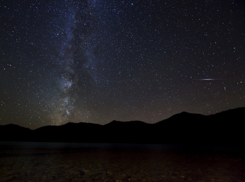 brutalgeneration:  Milky Way with Iridium Flare (by Shane Michael Black)