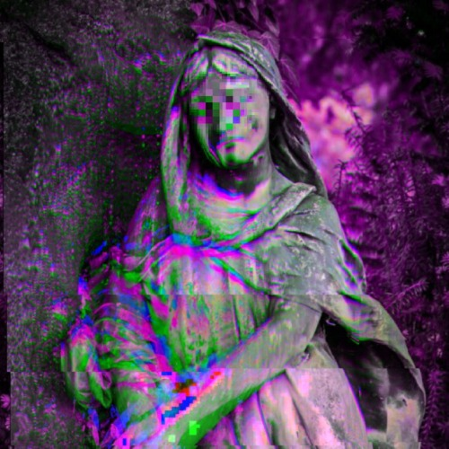 aesthetic sculpture purple glitch art webpunk net art web art vaporwave grunge