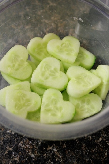 motiveweight:  Cucumbers are about 95% water :)
