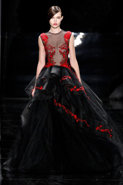 journaldelamode:    Reem Acra Fall 2013 NYFW