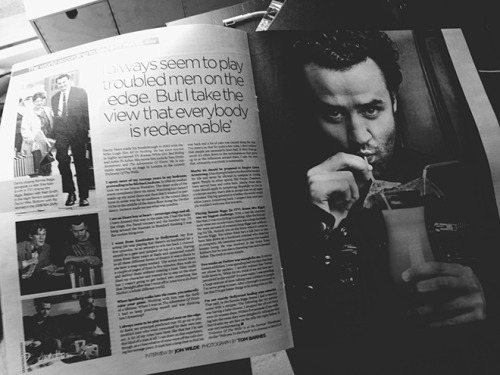 tombarnesphoto:  My photograph of Daniel Mays running full page in the entertainment supplement of the Mail On Sunday today.