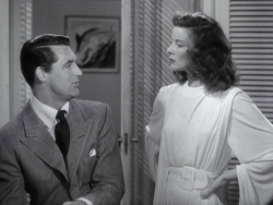 whilecinemavisionsdancedinmyhead:  The Philadelphia Story (1940)  Hepburn and Grant square off