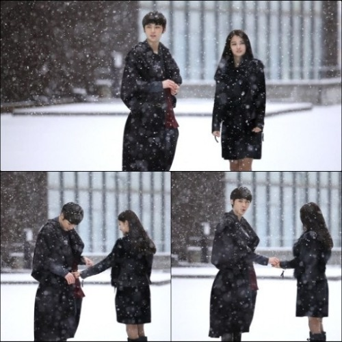 NU'EST - Minhyun on the set of 'Hello' MV with Nam Bora