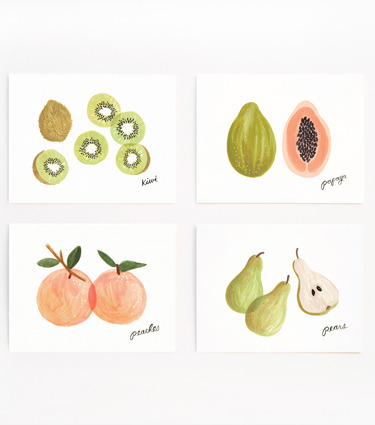 (via Rifle Paper Co. - Assorted Fruit Set)