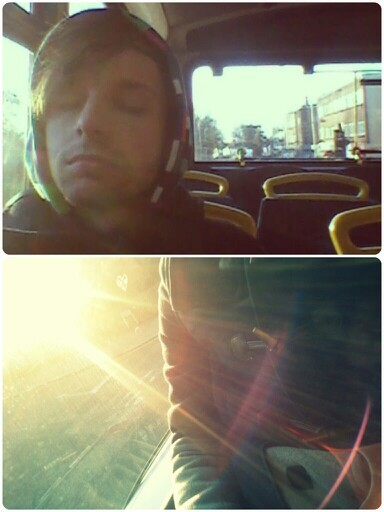 Morning bus to work