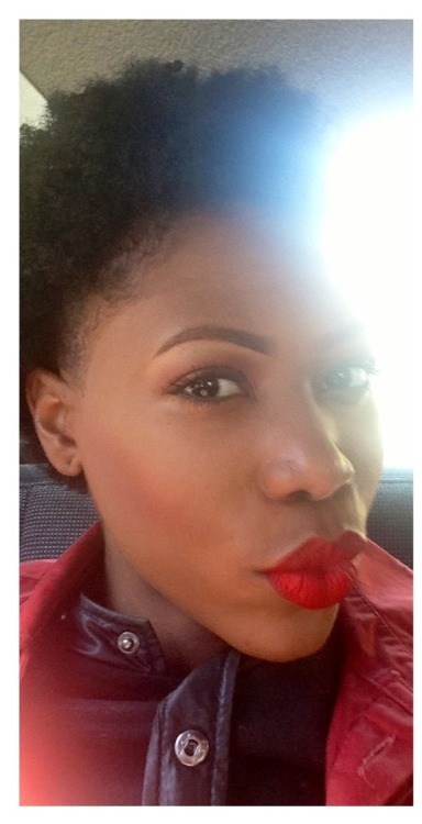 darkskinredlip:  Kerry-Ann , 26 from Brooklyn is rocking Sephora lip-stain in 01-always red !