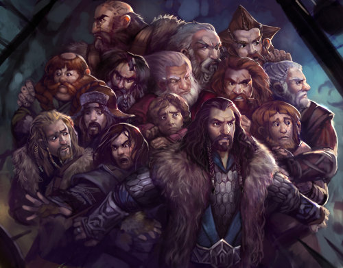 A whole bunch of dwarves by *juliedillon