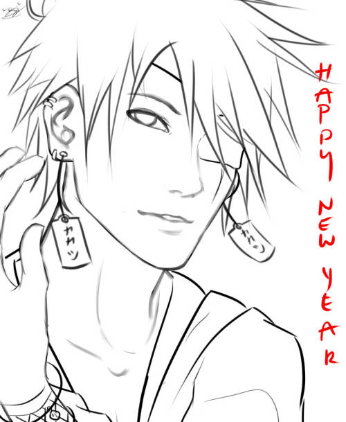 chi-tokiyo:  For New Years. Kakashi Hatake from Naruto.