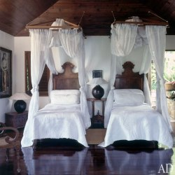 daydreamsonvinyl:  David Bowie's House on the Island of Mustique : Architectural Digest