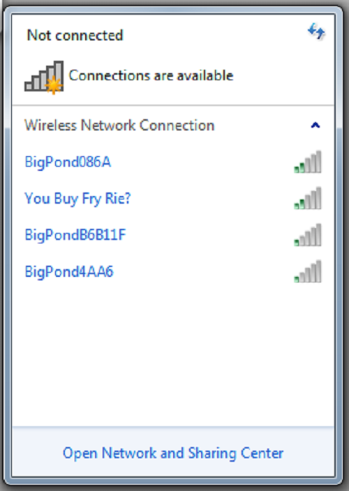 pizza:  me neighbours always have the best wifi names