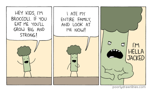 Sunday morning comics: Eat your broccoli