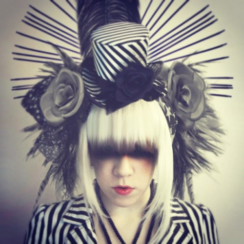 Playing. #apatico #millinery #stripes #graphic #headdress
