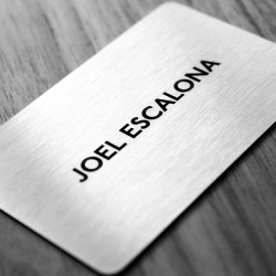 new studio branding sneak peek - stainless steel #businesscards
