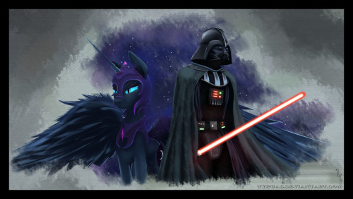 sleeptofade:  Darth Moon and Nightmare Vader by ~Tyruas