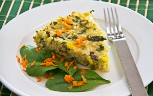 Spinach Risotto Pie