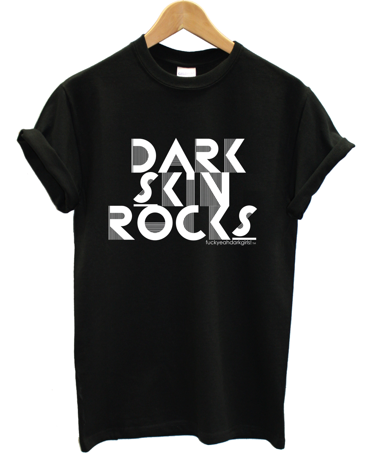 fuckyeahdarkgirls:  UNISEX DARK SKIN ROCKS TEE! | BUY THIS TEE HERE→