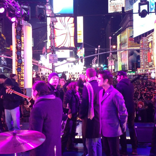 Getting ready for our New Year's performance in Times Square