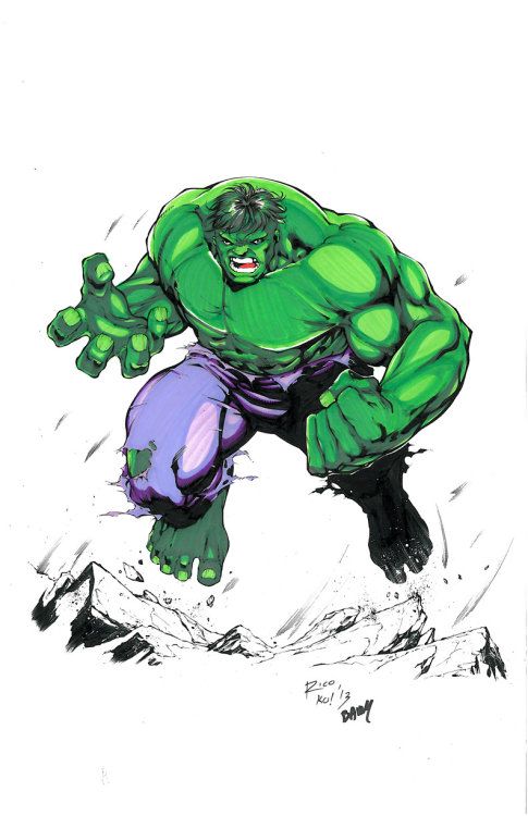 11x17 Hulk by Tony Kordos and Jeff Balke (For Sale)   www.comicbookquest.com