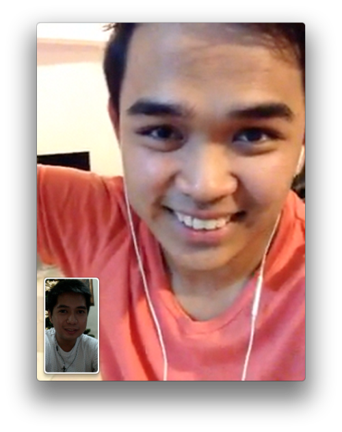 Facetime-ing with my brother from another mother who's in Doha right now. Merry Christmas Darwin!!! :D
