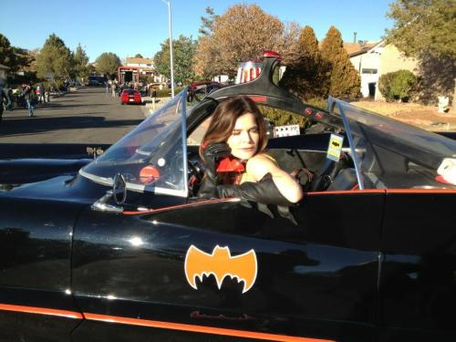 "heisenbergchronicles:   Betsy Brandt (Marie) on Twitter today (Dec. 17, 2012): ""Bat Mobile outside the White house today…very cool ride.""  How surreal is that? Could the Batmobile be making a BrBa appearance? Maybe Marie stole it. Never know, she is a serious klepto."
