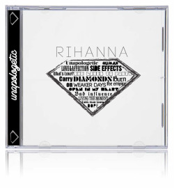My typographic cover for Rihanna's Album, Unapologetic. Part of my next project designing some Album covers.