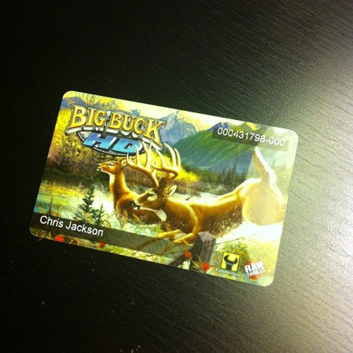 I bet you guys don't have a Big Buck Hunter players card. (This in no way means I am good at Big Buck Hunter) #bigbuckhunter #whowantstobattle