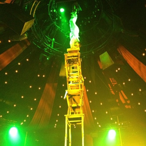 Handstand on chairs in the Absinthe show. (at Caesars Palace Hotel & Casino)