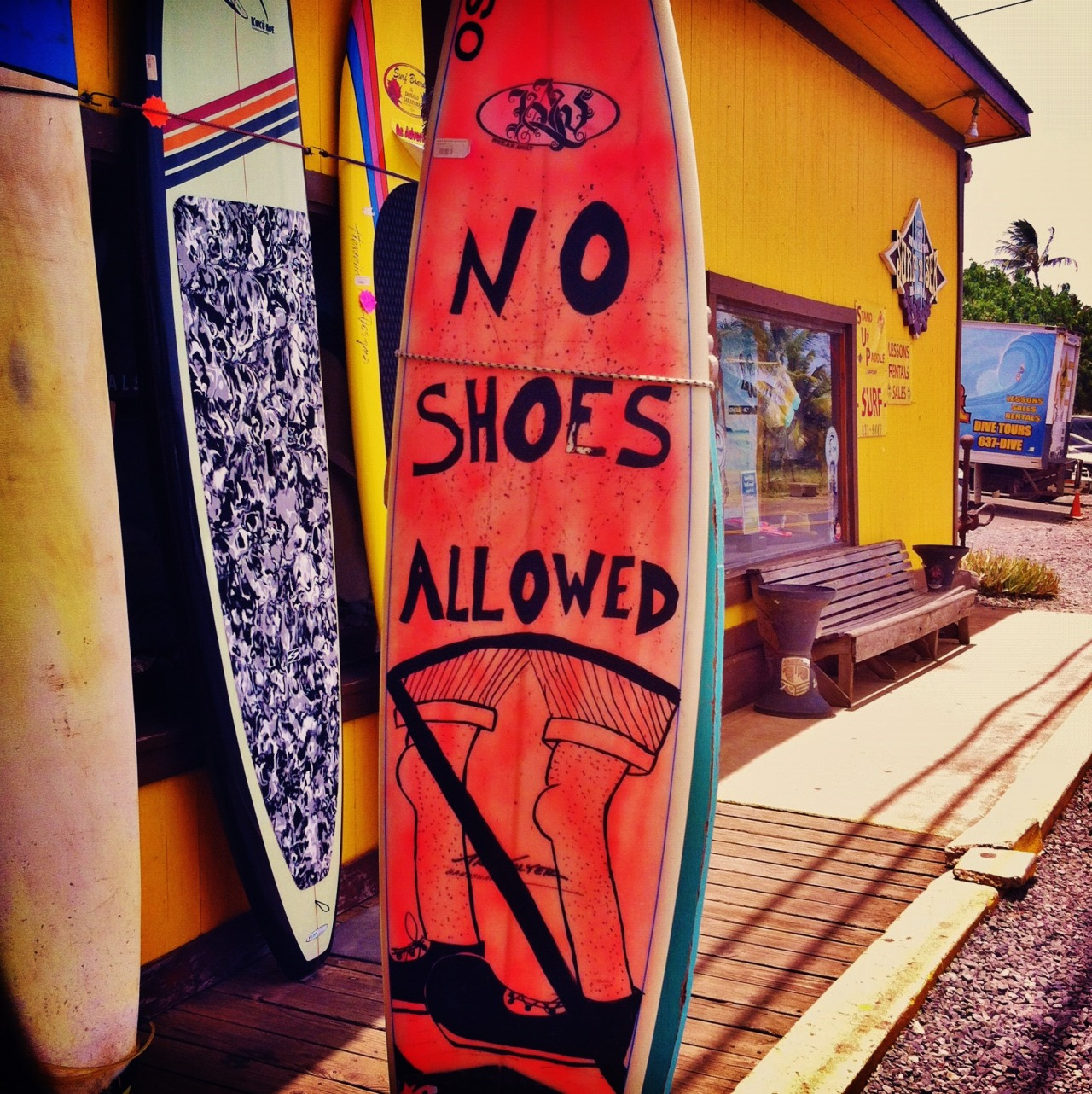 surferboianddollbaby:  No Shoes Allowed!    SurferBoiAndDollBaby.Tumblr.com