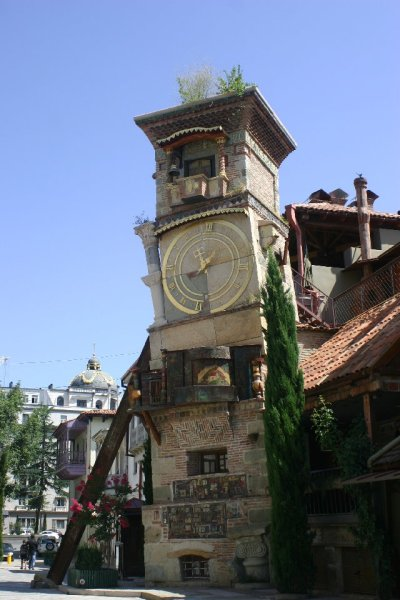 steampunktendencies:  Leaning Clock Tower of Tbilisi