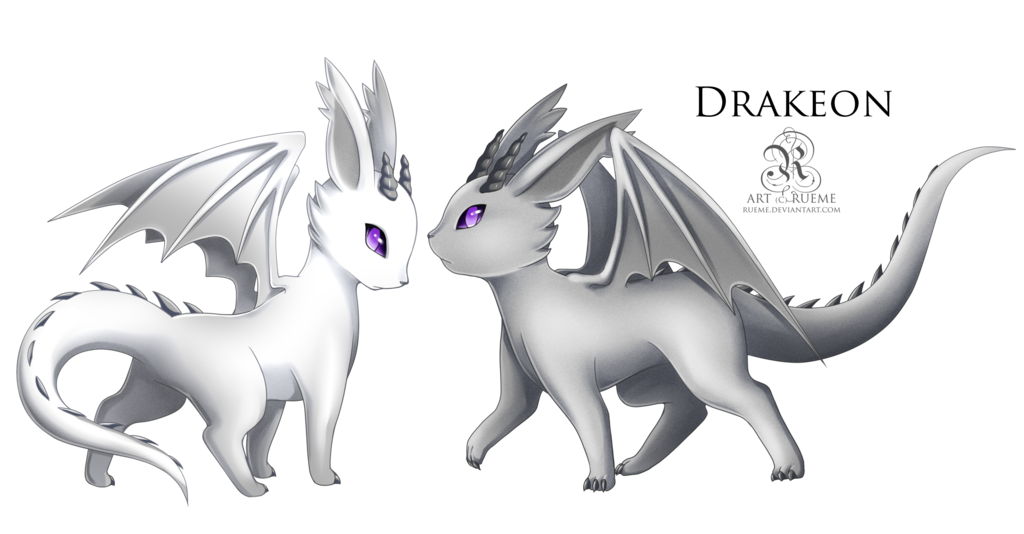 fantasticfakemon:  Eevee —> Drakeon Dragon Evolves from Eevee when leveled up while holding a Dragon Scale. Source. Artist: Rueme Commissioned for: dragonfriend7738