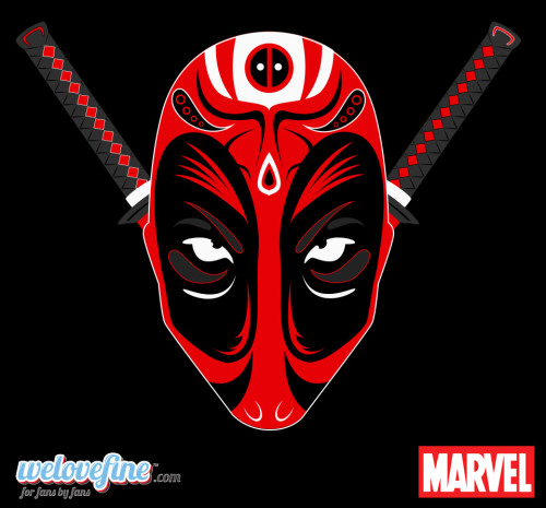 Kabuki Deadpool by Ashley Hay Available at WeLoveFine here.