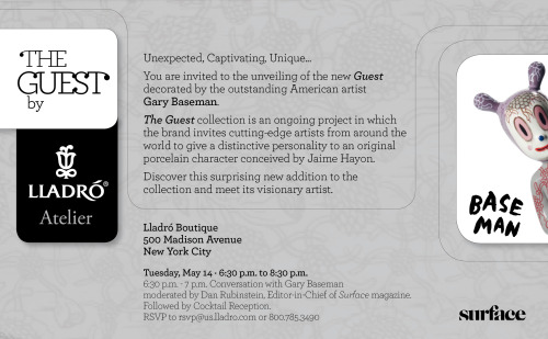 You are invited May 14th in NYC to the unveiling of @GaryBaseman's Guest