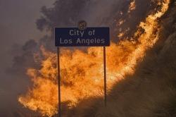 fire city Los Angeles california burn LA burning Wildfire