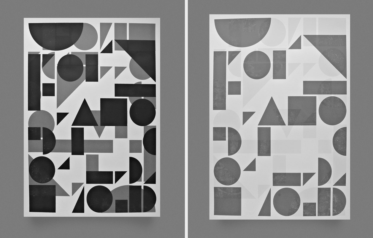 A poster celebrating shape, form and typography. Pretty cool hey?