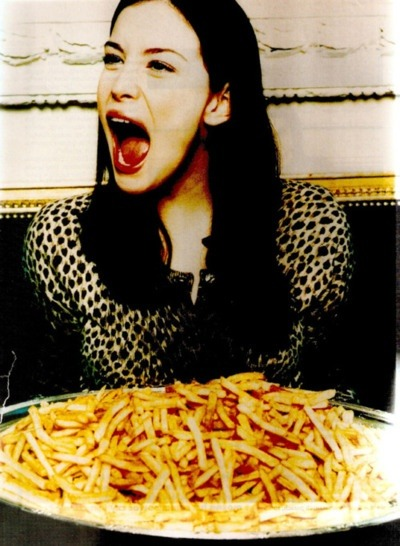 shopghost:  Kill your diet. Eat fries like Liv.