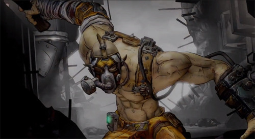 "Borderlands 2 Sixth Character is a ""Reformed"" Bandit Not content with allowing one spec of dust to hit your copy of loot happy FPS, Gearbox is giving players a new reason to tour Pandora. Meet your new Vault Hunter: Krieg the Psycho.  Once apart of the psycho bandits roaming the terrain of Pandora — you know, the shouting creeps you have so much fun shooting at — Krieg is an escaped experiment with a love for melee combat.  Controlling him is a game of risk versus reward, where charging the front lines and getting up close and personal to crack enemy skulls actually heals Krieg. Krieg's skill trees, below, serve to endorse his unusual and  fantastically brutal play style: Bloodlust: Combat bonuses are alotted for melee kills using your Buzz Axe. Hellborn: Ups fire damage and, incredibly, increases lethality when you're on goddamn fire. Mania: Take damage and your damage output is bolstered. This badass addition to the game's roster will cost you $10 when he arrives as DLC sometime in May.  While Krieg doesn't seem to be included with the Borderlands 2 Season Pass, a confirmed fourth campaign add-on (scheduled for June) is. Watch the Playable Psycho Bandit's Announcement Trailer hereabouts."