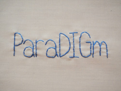 andsewfortoday:  DAY THREE HUNDRED AND TWENTY THREEparadigm noun 1. the generally accepted perspective of a particular discipline at a given time <2 strands on cotton>