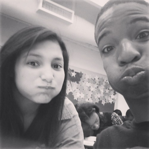 Piggly Wiggly and I goofing off in class. Seniorsssssss
