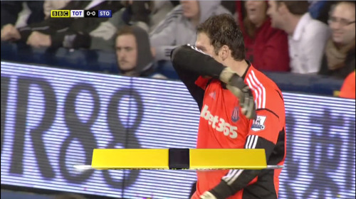 Asmir Begovic is sad because he thinks the foreign sounding deodrant he was bought for Christmas might actually have been fly spray.