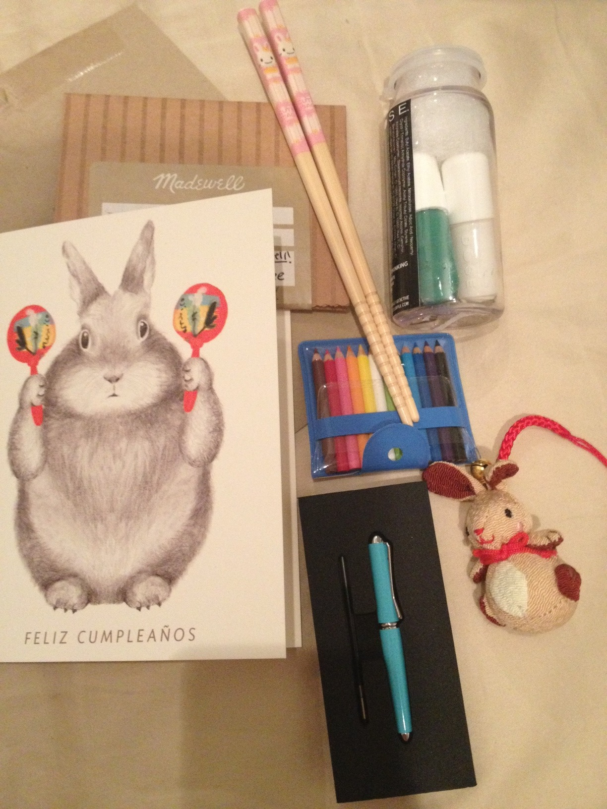 Excellent birthday haul. Lots of wonderfully tiny and bunny related things