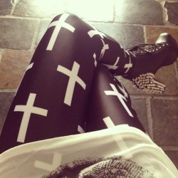 "fashionpassionates:  Get yours: DROP CROSS LEGGINGS Shop FP | Fashion Passionates ""get your fashion fix with fashion passionates"