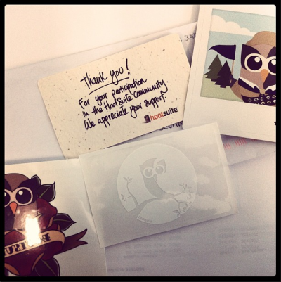Have an owlsome weekend! RT @alexperdel: Thanks hootclub for the new #HootKit Have a nice weekend. #HootLove http://t.co/5Q81rYcC