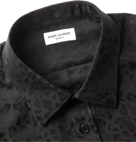 asthetiques:  SAINT LAURENT - LEOPARD-PATTERNED SILK SHIRT  NEED THIS NAO