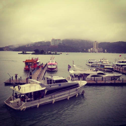 Yesterday saw a foggy and rainy day at Sun Moon Lake. #Taiwan #travel #lake #yatch #rain #sunmoonlake #wanderlust #latergram