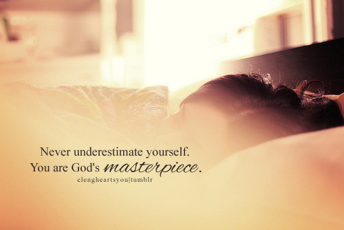 spiritualinspiration:  You are God's own masterpiece! That means you are not ordinary or average; you are a one-of-a-kind original. When God created you, He went to great lengths to make you exactly the way He wanted you to be. He gave you the right personality, the right gifts, the right talents, and the right connections to do exactly what He's called you to do. The question is: do you recognize the treasure you possess?  Today, don't settle for living a mediocre existence. Unlock the hidden treasures inside of you. Every morning when you get out of bed, remind yourself, I am a masterpiece. I am handpicked by God, and I am a person of extreme value and significance. Remember, you are an original—you're not meant to be like everyone else; God designed you the way you are for a specific purpose. Everything about you is unique, and every detail about you matters. Receive His love today because you are His most prized treasure!