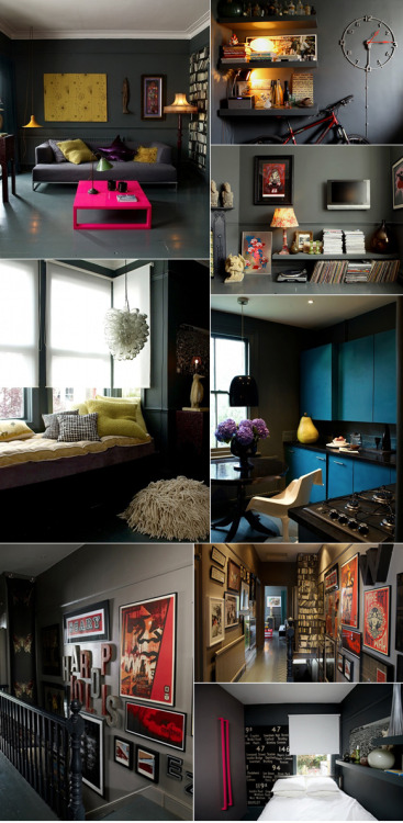 (via dark and moody apartment « Sharona Design)