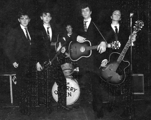 The Quarrymen portrayed in the film Nowhere Boy (2009)