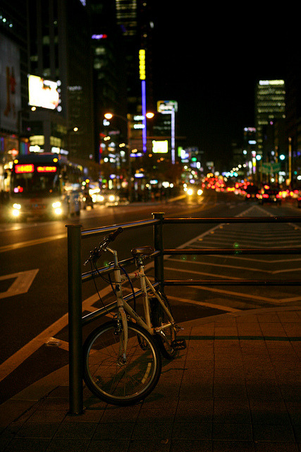 Nighttime at Gangnam by Seoul Korea on Flickr.